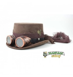 Cappello Steampunk Marrone