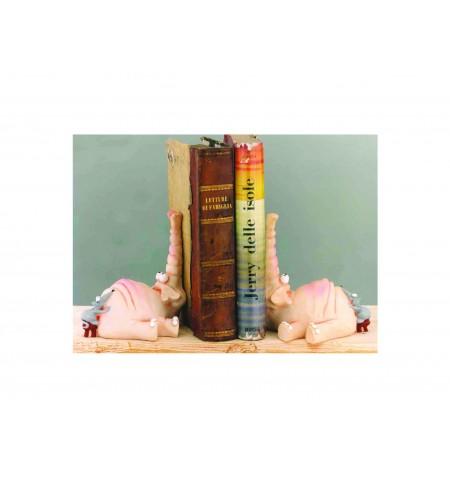 Ferma libri coppia elefanti