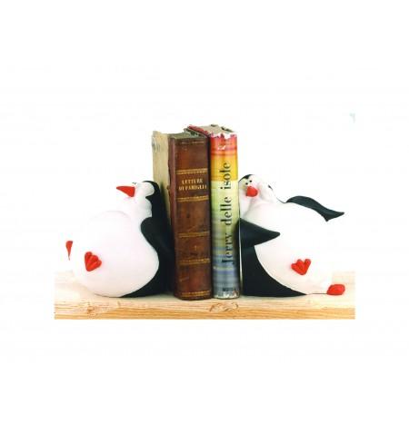 Ferma libri coppia pinguini